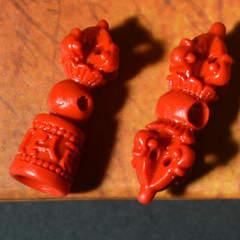 Natural Taiwan cinnabar precision carving vajra jingangjingangling instrument pendant Tibetan buddhi vajra