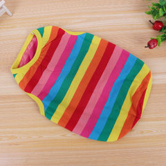 2017 pet new vest dog clothes teddy clothes spring and summer rainbow biped pet clothes spot wholesa The colours of the rainbow xs