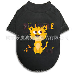 Pet clothing dog clothing vest can be customized clothing summer clothing spring and autumn clothing Black + tiger xs