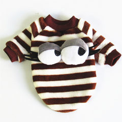 Dog clothes autumn winter warm pet clothing teddy VIP small and medium-sized dogs thickened cotton p Coffee stripe s.