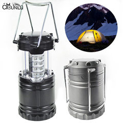 New camping lamp 30LED camping lamp outdoor super bright camp tent lamp automatically pull the small black