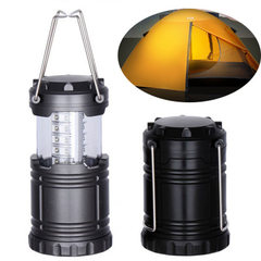 Outdoor camping tent lamp the latest 30LED emergency light stretch camping lamp round small horse la black