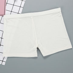 Women`s flat Angle briefs, plain coloured light face and simple leggings white All code