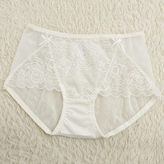 New sexy exquisite rose net mesh mosaics ladies underwear fluoroscopically sexy boxer manufacturers  white m
