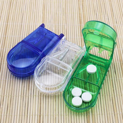 Rectangular medicine cutter a new type of medicine cutter box for families to prepare children and t green