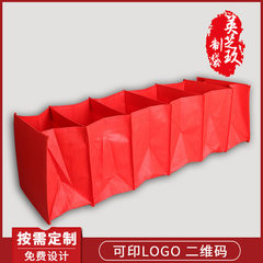 Non-woven fabric home to receive 6 cases of storage box production storage hanging bag chest multila red