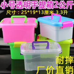 Manufacturer direct selling low price environmental protection PP food grade cover small suitcase pl The small suitcase is transparent