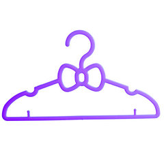 Rong xin strengthens the thickening butterfly - shaped seven - color hanging clothes rack plastic dr purple 39 * 22