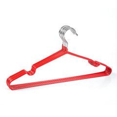 创意纳米防滑儿童金属晾衣架 凹槽浸塑衣架批发服装店衣服挂衣架 红色 L00039儿童款30*18cm