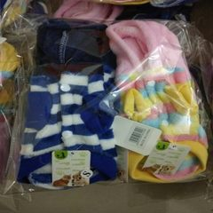 Dog clothes autumn and winter cats keep warm the new downy color pet clothes blue S 29 * 13 cm