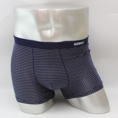 Men`s underwear modell bamboo fiber flat Angle shorts breathable antimicrobial manufacturer new 5474 Deep blue XL (100kg - 120kg)