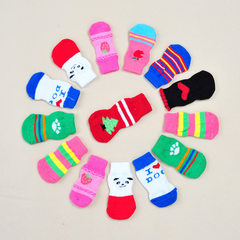 Lost money dog socks pet cotton socks wear-resistant anti-skid Korean version of fashionable leisure Design and color is random