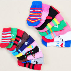 Dog socks pet cotton socks wear-resistant anti-skid Korean version of fashionable leisure socks tedd More than design and color