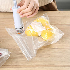 Vacuum-pumped food compression bags are made at home transparent Make to order