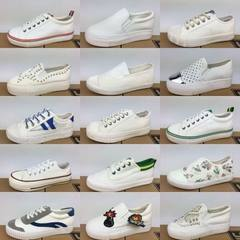 杂款女帆布鞋 新款休闲帆布女鞋 时尚百搭杂款地摊鞋货源批发 杂款小白鞋(帆布鞋) 35-40大码多发