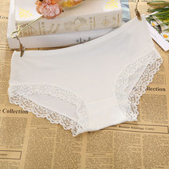 Model lace lace underwear women`s pure color low-waist comfortable triangle sexy underwear wholesale white l