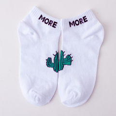 New ship socks thin style strange men and women socks cotton socks literary style students sports so The cactus All code