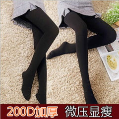 Spring and autumn 200D velvet pantyhose do not penetrate the meat and add the base socks thickened p gray pantyhose
