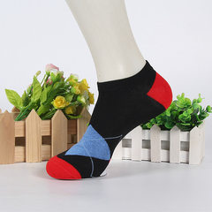 Supply the wholesale summer ground stall men`s pure cotton invisible ship socks genuine cotton short black All code