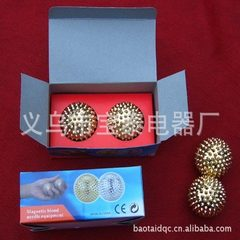 Factory direct sale magnetic mini massage ball steel ball hand wheel health care massage device whol Gold silver