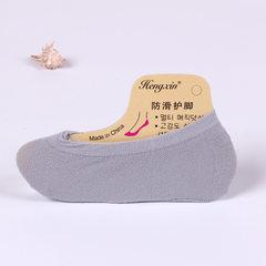 糖果色魔术袜子批发 女士隐形天鹅绒 防滑船袜 硅胶丝袜 夏季女士 灰色 均码