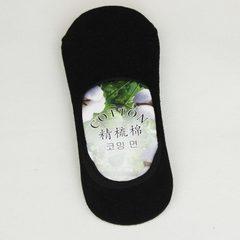 船袜 男士 棉纯色硅胶防滑隐形船袜 夏季纯棉浅口男袜子 厂家批发 黑 均码 39-43鞋码