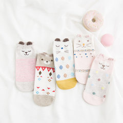 Cuddly cartoon women ship socks new socks shallow socks three - dimensional ears breathable thin stu 001 All code