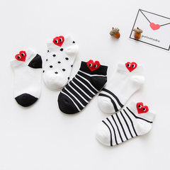 P013 children`s socks wholesale zhuo top cotton socks children`s socks spring and summer three-dimen C597 side red heart S (about 1-3 years old)