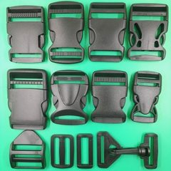 Manufacturers directly supply the box and bag accessories plastic buckle 1-5cm support color customi black