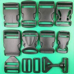 厂家直销 供应箱包配件 塑料插扣 卡扣 1-5cm 支持颜色定做 黑色