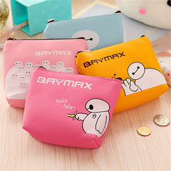Korean cartoon zero purse lady purse stall selling lovely pu leather cartoon purse white coin bag Pink white