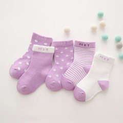 New product 2018-spring/summer hot style Korean children`s socks lovely baby socks breathable comfor purple 0-1 years old (S size) is suitable for foot around 8-10cm