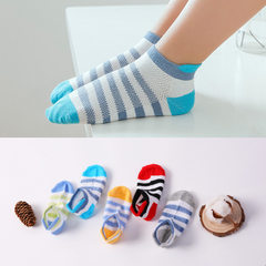 Spring and summer 2018 children`s socks net eye children`s socks in the stockings invisible stocking J0802 colourful striped wide heel socks S1 - three years old