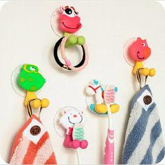 创意卡通动物牙刷架动物吸盘式可爱牙刷座款式可选 厂家直销批发 小猪 长7.5cm-宽4cm