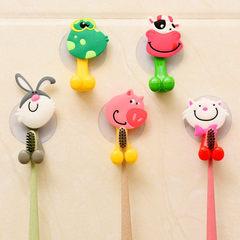 创意可爱卡通动物家族吸盘牙膏牙刷架 款式可选 小猫 长7.5*宽4cm