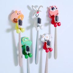 创意可爱卡通动物家族强力吸盘牙膏牙刷架 多款式可选 青蛙