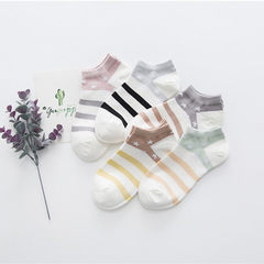 Female socks cotton socks spring and summer socks boat socks invisible socks star striped socks manu Article star All code