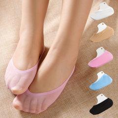 女款硅胶韩国袜子女士船袜春夏季薄潮防滑隐形浅口短款低帮袜丝袜 粉色