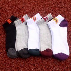 New cotton men`s socks breathable mesh sports socks basketball socks outdoor climbing socks boat soc Five colours mixed bag All code