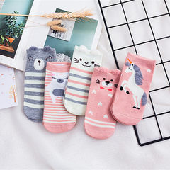 Wholesale spring and summer new - style cartoon socks lovely college wind socks boat socks short tub Mixing cartoon All code