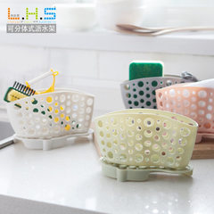 Haojun plastic bituminous water rack table cleaning cloth rack kitchen supplies sponge receiving she white