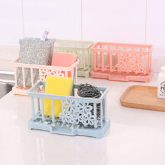 A8110 plastic bituminous water rack countertop cleaning cloth rack kitchen supplies sponge storage s Mixed color