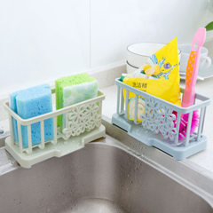 3515 plastic bituminous water rack table cleaning cloth rack kitchen supplies sponge storage rack st Pale pink