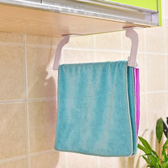 Creative nail-free and pasted folding kitchen towel rack multi-purpose cloth towel cleaning cloth re white