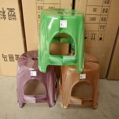 Jinlima color plastic stool yushi stool thickened bathroom stool household plastic stool adult stool Three color, orange Length, width and height: 33*28*29