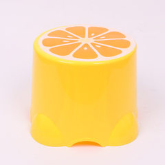 Wholesale household plastic stool thickened cartoon fruit plastic stool children anti - slip washing yellow 28 cm wide * 20 cm high