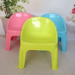Manufacturer direct selling children plastic chairs high stools kindergarten stools 9 yuan 9 stalls  Red, yellow, blue and green Height 38, width 32, bottom 35