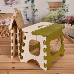 Plastic folding stool bathroom small stool children adult outdoor portable folding stool small chair Colors mixed hair