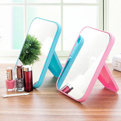 Simple rectangular tabletop mirror high definition cosmetic mirror tabletop dressing mirror folding  white