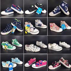 2017春款童鞋儿童休闲糖果色帆布鞋运动舒适帆布鞋库存鞋杂款 多款多色配发40双/件 25-30